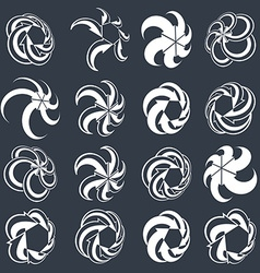 Looping arrows abstract symbol collection single vector