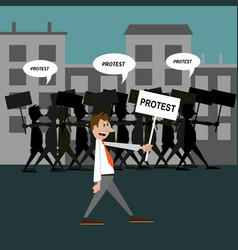 people protest vector image