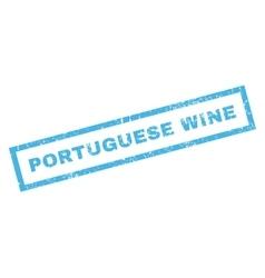Portuguese wine rubber stamp vector
