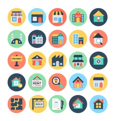 Real estate icons 1 vector