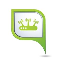 Router green pointer vector
