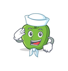 Sailor green apple character cartoon vector