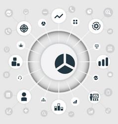 Set of simple seminar icons vector
