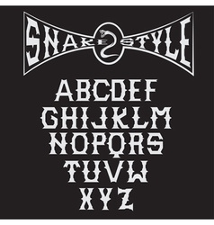 Snake style gothic alphabet vector
