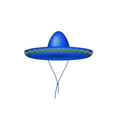 sombrero hat in blue design vector image