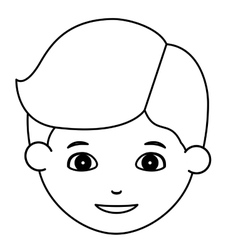 Silhouette of boy cartoon design vector