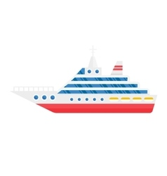 Ship cargo sea transportation vector
