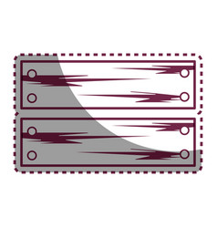 Sticker line wooden planks with metal laces vector