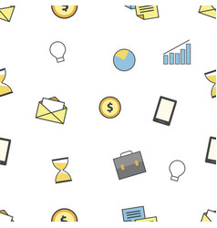 set of business and finance icons seamless vector image