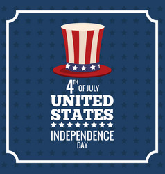 united states independence day memorial poster vector image