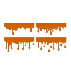 Flow of melted sweet caramel vector