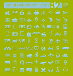 Set of delivery icons vector