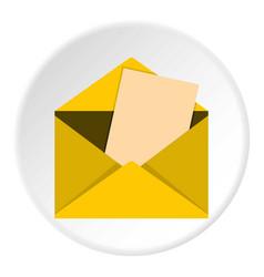 Envelope icon circle vector