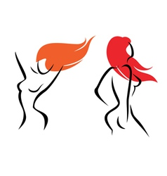 sexy women isolated symbols set vector image