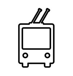 Trolleybus line icon public transport symbol vector
