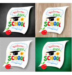 Welcome back to school lettering vector