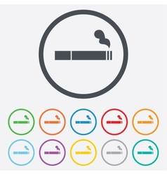 Smoking sign icon Cigarette symbol vector image