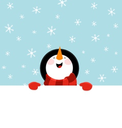 Snowman Message vector image