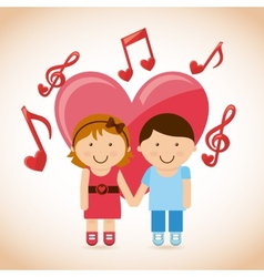 Love music vector
