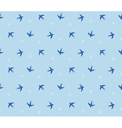 Swallow seamless pattern vector