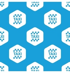 Taxi hexagon pattern vector