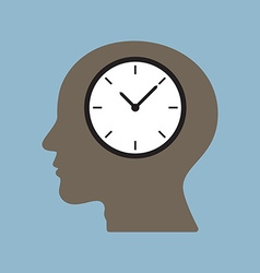 Time clock in human head vector