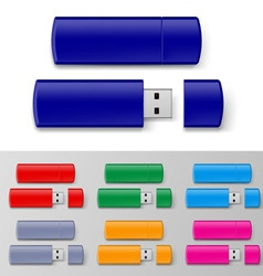 Usb flash set vector
