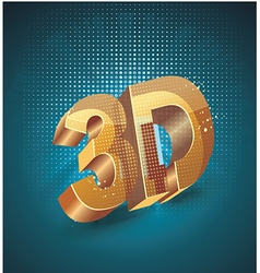 3d word in golden glass on dark blue background vector