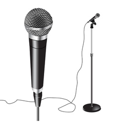 Microphone stand vector
