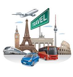 Travel and journey in europe vector