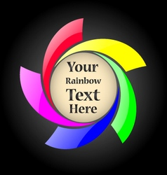 Abstract rainbow spiral sign with your text inside vector image vector image