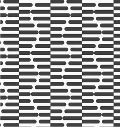Alternating black and white cut in half hexagons vector