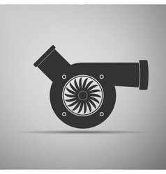 Automotive turbocharger icon vector