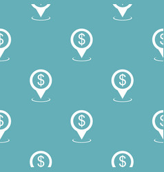 bank map pointer pattern seamless blue vector image