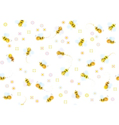 Bees seamless vector
