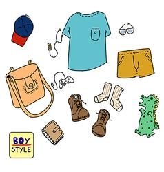 boy style vector image vector image