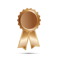 Bronze seal award ribbon on white background vector