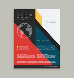 Business brochure flyer poster template vector