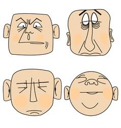 cartoon expressions vector image vector image