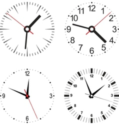 clock numbers vector image