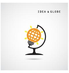 Creative bulb abstract logo design vector