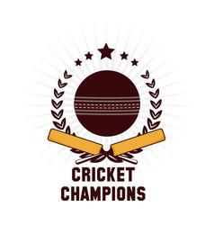 Cricket champions emblem vector