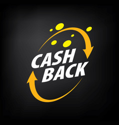 Emblem cash back vector