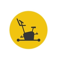 Exercise bike icon silhouette vector image vector image