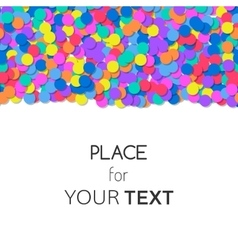 Festive background with colorful confetti and vector
