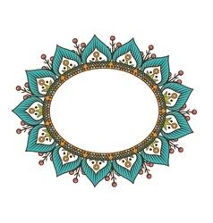 Frame bohemian mandala ethnic decoration vector