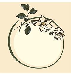 frame flower vector image