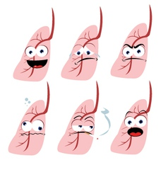 Funny Lung vector image vector image