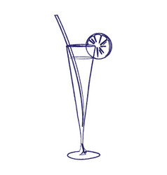 Image of a cocktail in a glass vector