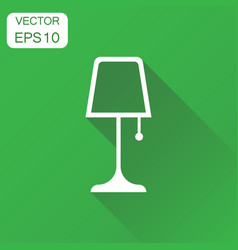 Lamp furniture icon business concept lamp vector